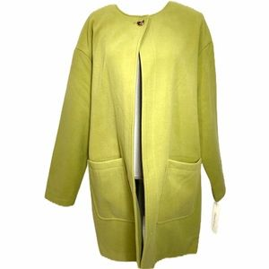 NWT Kenneth Cole Citronelle Green Cocoon Coat